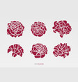 artistic red roses set vector image vector image