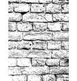brick wall vintage texture overlay vector image vector image