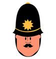 british policeman on white background vector image