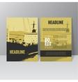 brochure template design L vector image vector image