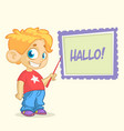 cartoon young blond boy character vector image vector image