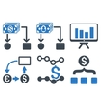 Cashflow Charts Flat Icons vector image