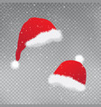 christmas red hats set template vector image vector image