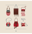 collection woman bags and purses vector image vector image