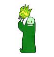 comic cartoon waving halloween ghoul vector image vector image