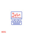 ecg machine heart diagnostics line icon vector image