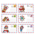 envelope to send letter to santa claus vector image vector image