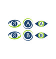 eye care solutions set vector image
