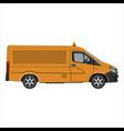 flat cargo van vector image vector image