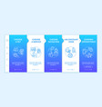 grooming salon services app onboarding template vector image