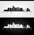 hamilton skyline and landmarks silhouette vector image vector image