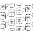 hand drawn graphic seamless pattern with teapots vector image vector image