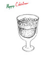 hand drawn sketch of julmust or soft drink made vector image vector image