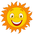 Happy cartoon sun vector image vector image
