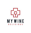 health wine sign vector image vector image