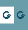 home letter g logo vector image