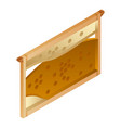 honeycomb wood frame icon isometric style vector image vector image