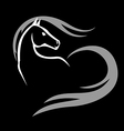 horse icon black vector image vector image