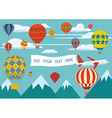 Hot air balloon festival vector image vector image