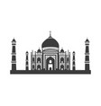 icon of taj mahal vector image vector image