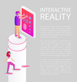 interactive reality devices vector image vector image