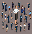 isometric 3d big boss woman leader vector image vector image