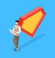 isometric concept of superhero leader vector image