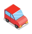 Isometric Red Car Icon vector image