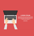 man working with laptop business or freelance vector image vector image