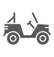 military vehicle glyph icon transport and army vector image vector image