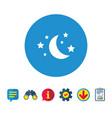 moon and stars sign icon sleep dreams symbol vector image vector image
