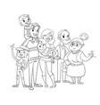 my big family posing together coloring book vector image