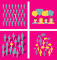 people icon set in trendy flat style isolated on vector image