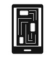 phone innards icon simple style vector image vector image