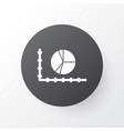 pie chart icon symbol premium quality isolated vector image vector image