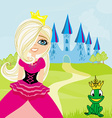 Princess and the Frog in the crown vector image vector image