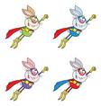 rabbit super hero collection - 1 vector image