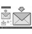 Receive message line icon vector image vector image