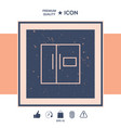 refrigerator linear icon vector image vector image