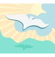 Seagull background vector image vector image