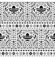 seamless monochrome mexican floral pattern vector image