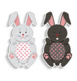set of badges with applique cute rabbits best vector image vector image