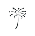 simple black icon fireworks on white background vector image