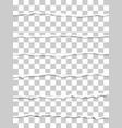 six oblong torn transparent paper fragments vector image vector image