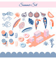 summer holidays clip art objects vector image vector image