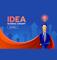 superhero businessman with success and vision vector image