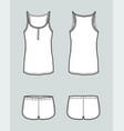 top and shorts vector image vector image