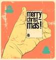 Typographic vintage style Christmas card design vector image vector image