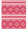 Ukrainian red seamless folk emboidery pattern or p vector image