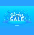 web banner for winter sale on blue background vector image vector image